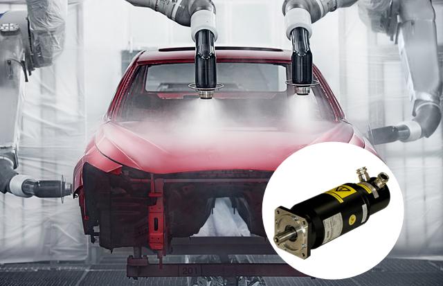 东莞瑞派防爆电机EX系列在喷涂机械手的应用
